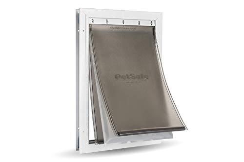PetSafe ZPA19-16854 Energieeffiziente Aluminium-Haustiertür für extremes Wetter für Hunde und Katzen- Isoliertes Klappensystem- Groß