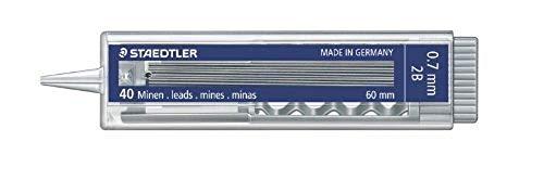 STAEDTLER 25507-2B - Estuche de 40 minas 0.7 mm 2B con pulsador, 1 unidad