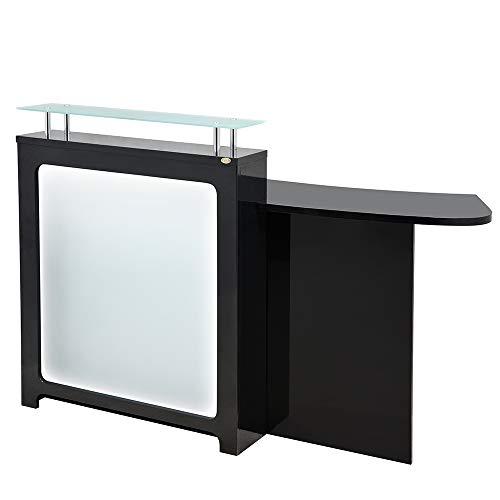 White salon reception desk, White salon reception desks