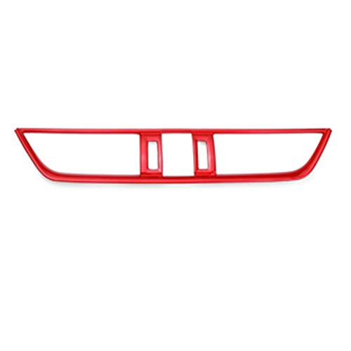 OutdoorKing Rosso Pulsante Aria Condizionata Avviamento Motore Pannello Cambio Volante Supporto dell'Acqua Telaio Coperchio Protezione Trim per Toyota RAV4 2019 2020 (Color : Center Air Outlet)