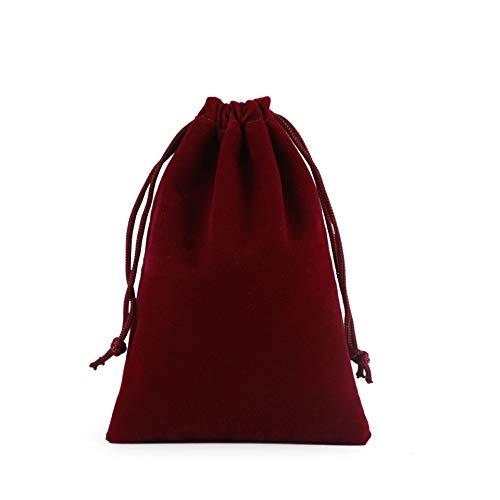 10 unids Multi TAMAÑO Vino Red Rojo TRABAJE Bolsas DE VELAJO DE VELORÍA DE LA ORGANA Boles DE Almacenamiento para LA Navidad Boda Bolsas DE Regalo Embalaje DE JOYERÍA YC0222 (Color : 5x7cm 10pcs)
