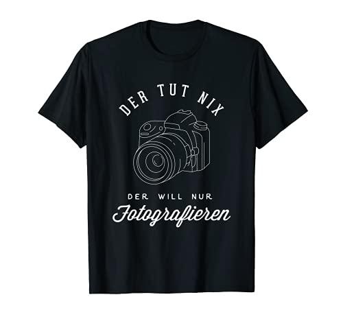 La cámara de fotos no quiere hacer fotografía. Camiseta