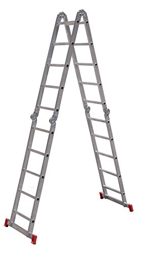 Escada SUPER Articulada Multifuncional 20 DEGRAUS Alumínio 13 posições Botafogo Lar e Lazer