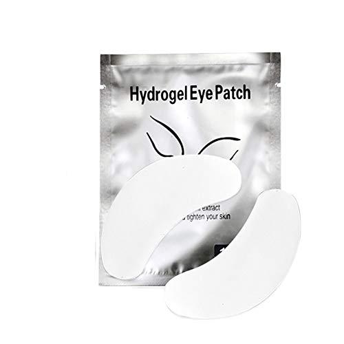 Xiton Maquillage Accessoires 1PACK Sous Tapis yeux charpie Lash Extension Eye Gel Patches à usage unique Lash Extension Kit Remover Collagen Eye Shield Protector Pad Cils Intensification (Argent)