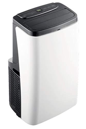 HANTECH lokales mobiles Klimagerät mit 3,5 KW Kühlleistung - 12000 BTU - Klima Klimaanlage Wohnung Büro - Geeignet für Räume bis 84 m³ inkl. Abluftschlauch und Fernbedienung