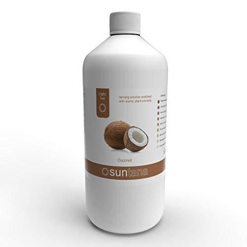 Suntana Spray tan Coconut Fragranced Spray Tanning Solution, Light Tan 1000 ml