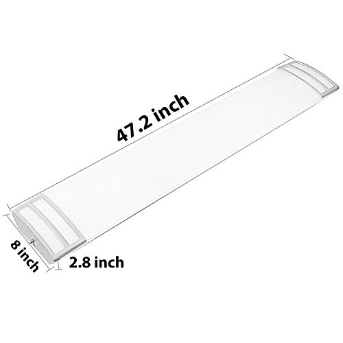 FaithSail 4FT LED Flush Mount Kitchen Light Fixtures 50W 5600lm, 1-10V Dimmable, 4000K, 4 Foot LED Kitchen Lighting Fixtures Ceiling for Craft Room, Laundry, Fluorescent Replacement, ETL Certified