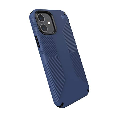 Speck Products Presidio2 Grip - Custodia per iPhone 12, iPhone 12 Pro, colore: Blu/Nero/Blu tempesta