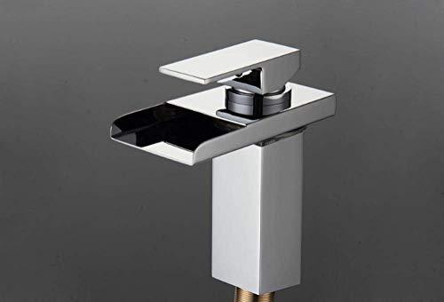 Waskraan wastafel kraan led licht waterval kraan zuiver koper kraan badkamer chroom panel installatie van het platform wastafel kraan van de boot