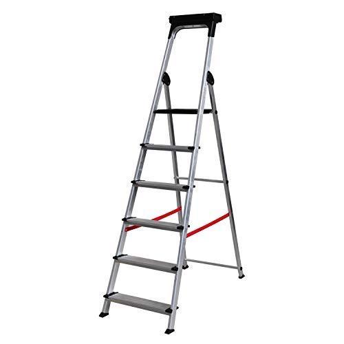 Escalera Ancha de Aluminio ELITE PLUS (6 Peldanos). BTF-TJB406