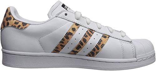 adidas Originals Women's Superstar Sneaker, White/Black/White, 6