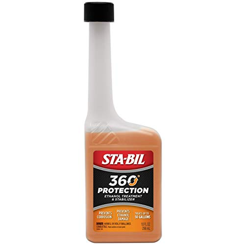 STA-BIL 360 Protection Ethanol Treatment And Fuel Stabilizer - Prevents Corrosion - Prevents Ethanol Damage - Cleans Entire Fuel System - Treats 50 Gallons, 10 fl. oz. (22264)
