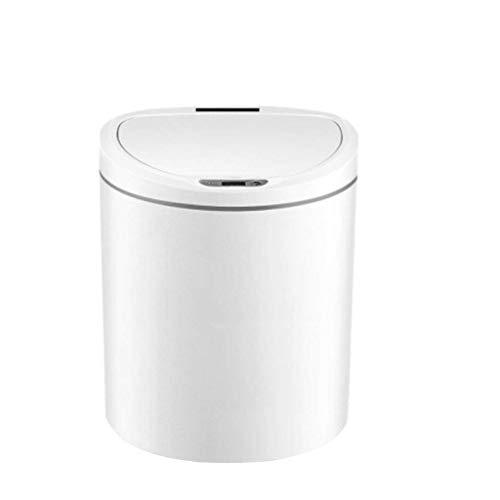 1yess Mülltonne Modern Küche Elektronische Smart Mülleimer Mit Deckel Home Automatische Induktionsraum Büro Einfache nordische Mode Abfallbehälter (Farbe: weiß, Größe: 2.6Gallon)