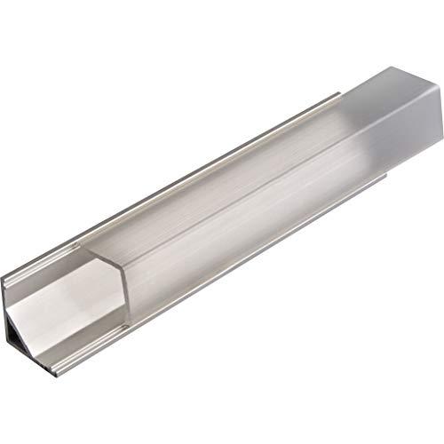 KIT de 6 x 1 mètre P8 Profilé en aluminium ARGENT pour les bandes LED avec couvercles transparents, bouchons et clips de fixation
