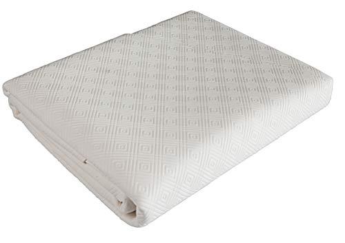 Venilia UNI sous-Nappe Bulgomme Protège Table, Polyester, Blanc, PVC, Ovale, 135x 220cm, 53378, 135 x 220 cm