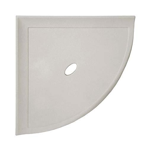 8 inch Corner Shower Shelf - Matte Gray Wall Mounted Bathroom Organizer Metro Flatback