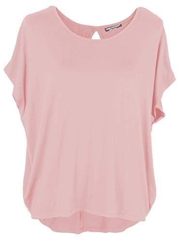 Emma & Giovanni Damen Basic Sommer T-Shirt/Oberteile Kurzarm, Rosa, Gr.- DE 36-38 (Herstelleretikett M)