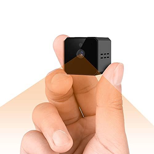 MCSTREE Mini Kamera 4K Tragbare Kleine Überwachungskamera, Mikro Nanny Cam mit Bewegungserkennung und Infrarot Nachtsicht, Compact Sicherheit Kamera für Innen und Aussen