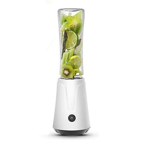 JTYR Exprimidor, licuadora de Vegetales, licuadora portátil/licuadora de Frutas eléctrica, Cuatro Cuchillas en 3D para una excelente Mezcla, procesador de Alimentos para bebés, 600 ml Blanco