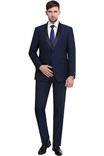 Mens White Tuxedo Dinner Jacket Modern Slim Fit Wedding Prom Cruise Fitted Suit