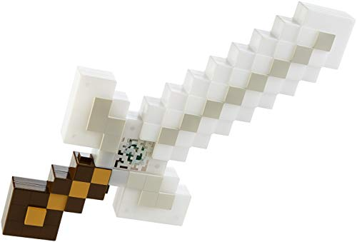 Minecraft Espada luminosa de aventuras, juguete con luces y sonido para niños +6 años (Mattel FMD13)
