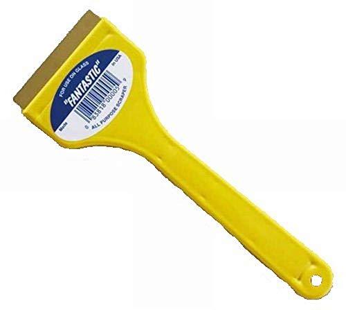 CJ Industries F-1 Fantastic Ice Scraper with Brass Blade, Yellow