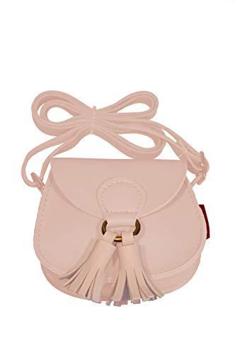 k:s me Tasche mit Bommel ◉ Mädchen Tasche ◉ Schultertasche ◉ Handtasche ◉Geschenkidee ◉ kids bag (Hellrosa)