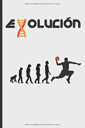 EVOLUCIÓN: CUADERNO 120 Pgs. REGALO ORIGINAL. DIARIO BASKET, CUADERNO DE NOTAS BALONCESTO, APUNTES O AGENDA.