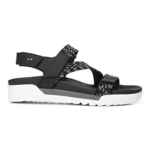 Ryka Women's Rowana Shoes Sandal, Black, 9 W US
