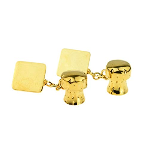 Ashton en Finch gouden champagne kurk bruiloft & verjaardag manchetknopen