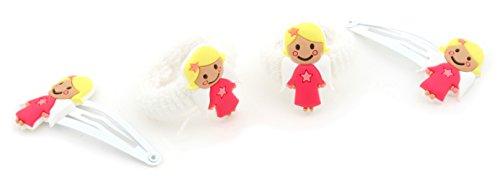 Zest Boucles d'ange 4 accessoires cheveux 2 lames et 2 Neige étincelant Blanc