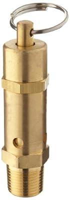 "Kingston 112CSS Series Brass ASME-Code Safety Valve, 75 psi Set Pressure, 3/8"" NPT Male by Kingston Valves"