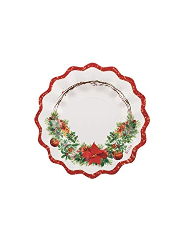 Givi Italia Weihnachtsteller aus Pappe, 21 cm, 8 Stück