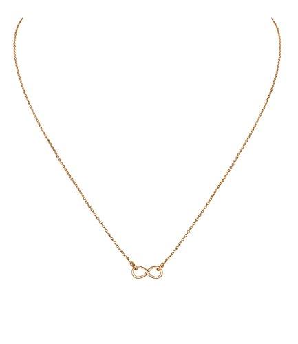 SIX Statement Kette Infinity: Filigrane Halskette mit Unendlichkeitszeichen, inkl. Grußkarte, besondere Geste zum Valentinstag (441-036)