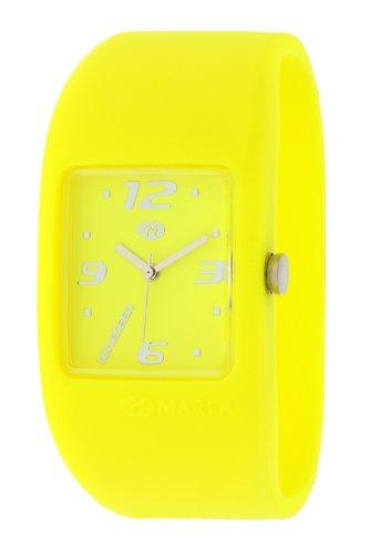 Reloj amarillo de Mujer de Cuarzo, Correa de Silicona