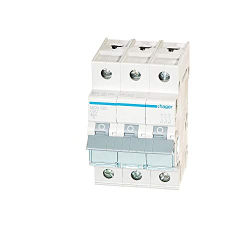 Hager MCN320 LS-Schalter 3P 6kA C-20A 3M Schraubtechnik