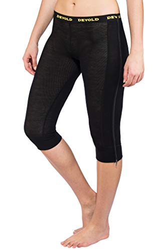 Devold Wool Mesh Zip-Off Capri Pantalon Femme, Black Modèle XS 2018 sous-vêtement