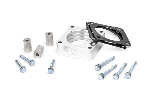 Rough Country Throttle Body Spacer (fits) 87-06 Jeep Wrangler TJ YJ | 84-01 Cherokee XJ | 86-92 Comanche | 4/6CYL | 1068