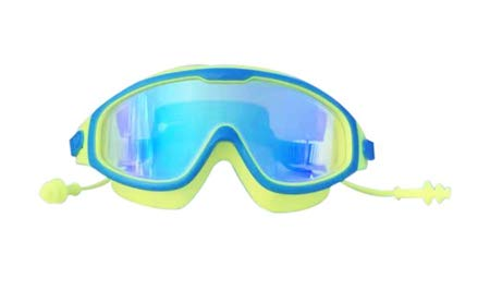 Viner Professionele Kind Zwembril Anti Fog UV Kids Sportbrillen Zwembril Met Oordop Voor kinderen, hemelsblauw