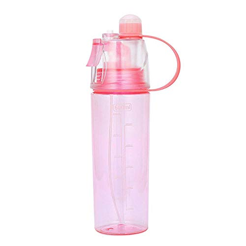 Dybjq Sports Spray Cooling Bottle Bicycle Spray Spray Water Cup Fitness Beach Bottle Leak Proof Drinking Cup Camping Hiking Bottle Portable 600ML