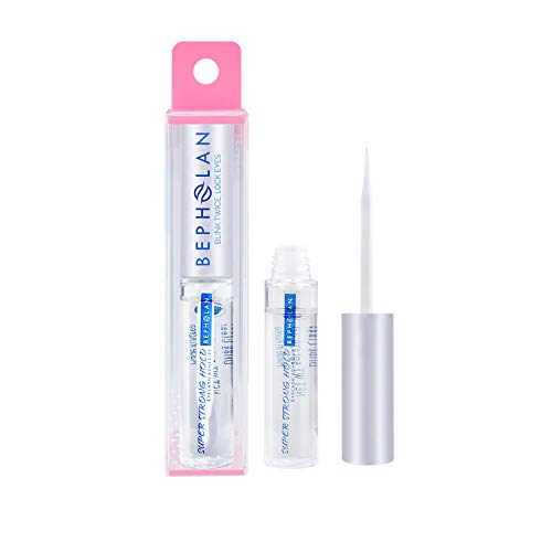BEPHOLAN Professional Clear Eyelash Glue | Latex Free | Strong Hold for False Eyelashes | Eyelash Adhesive | Safe on Skin | Suitable for Sensitive Eyes | Clear 176 oz