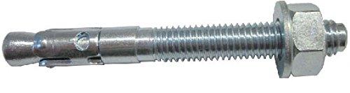 allfa 7250010100 Stahlanker mit ETAG 001 Zulassung, verzinkt, M10 x 100 mm, 25 Stück