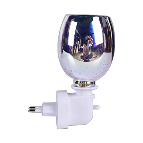 MERIGLARE Quemador de Cera Derretido Eléctrico Aroma Lámpara de Vidrio 3D Aceite Esencial