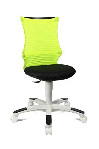 Topstar SNeaker, krzesło obrotowe dla dzieci i młodzieży, krzesło biurkowe dla dzieci, materiał, neonowy żółty/czarny/biały