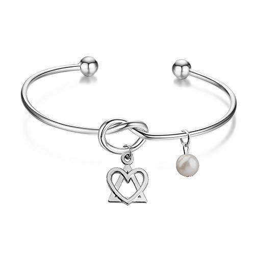Love Knot Adoption Symbol Cuff Bracelet
