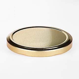 20 St. Ersatzdeckel Twist-Off-Deckel 82 mm Gold für Gläser und Glasflaschen, Milchflaschen und Einmachgläser, Deckel für Marmeladen, Honig, Feinkost, Gewürzgläser mit Gebrauchsanweisung