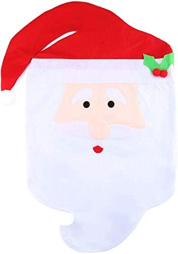 himaly Weihnachten Stuhlhussen, Weihnachtsmütze Stuhlhussen, Stuhlabdeckung Dinner Party Ornamente Sitzbezüge, Weihnachtsdekorationen Stuhllehnenhussen(rot und weiß)