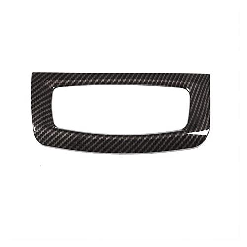 ZHENGJI Cambio de Faro de Estilo de Fibra de Carbono Interruptor de decoración Marco de decoración Ajuste para BMW X5 F15 2014-2018 Accesorios para automóviles