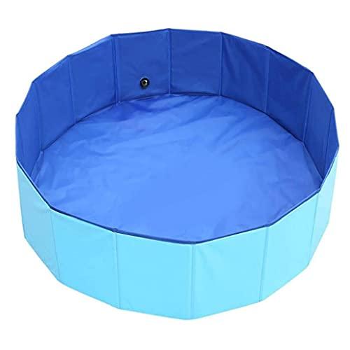 Hainice Pet bad Pet Bathing wastrommel Household Hond Zwembad Opvouwbare Portable PVC Non-Slip Cat plonsbad voor Indoor Outdoor 60x20CM Blue