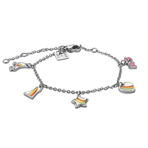 Twice As Nice Collection K3 armband met rolschaatsen, hart, ster en jurk, multi 13 cm + 5 cm